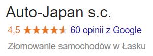 Opinie o firmie Auto-Japan